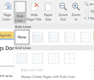 Paper You Want To See Ear In Your Onenote Notebook Whether It Will Just Be A Blank White Sheet Of Or Include Ruled Lines