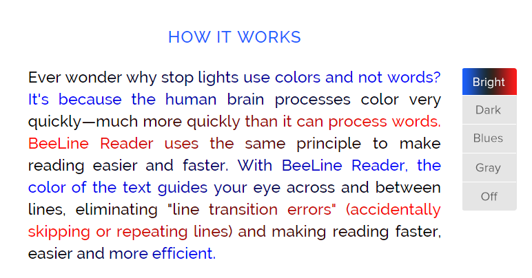 BeeLine Reader - How It Works