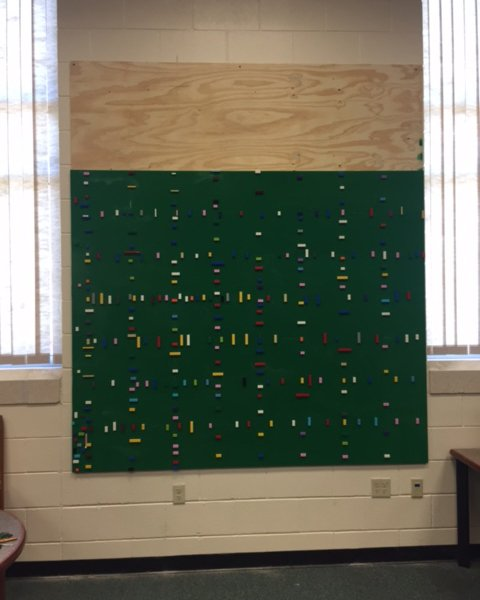 Making: Our Library's LEGO Wall