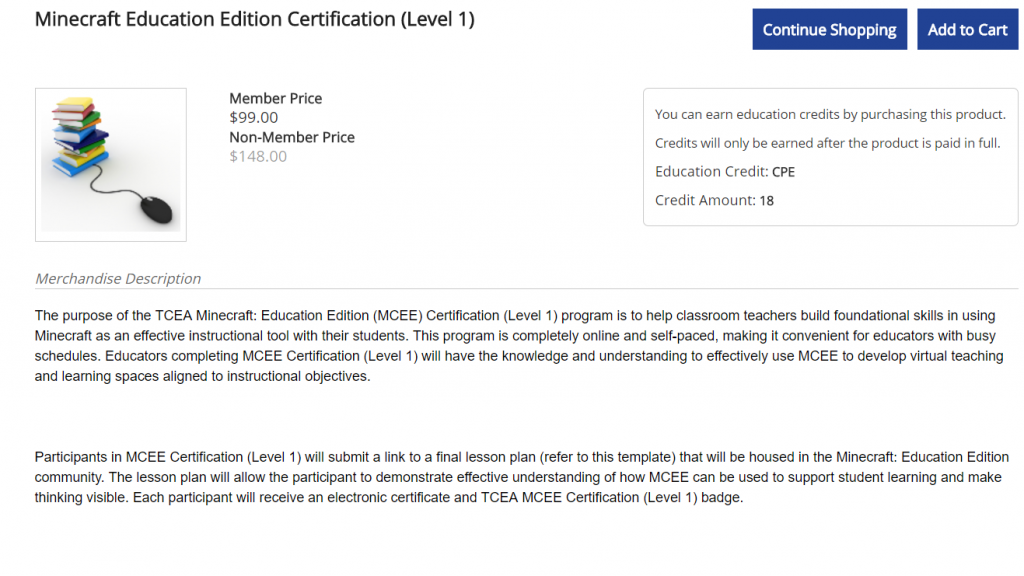 Minecraft certification course