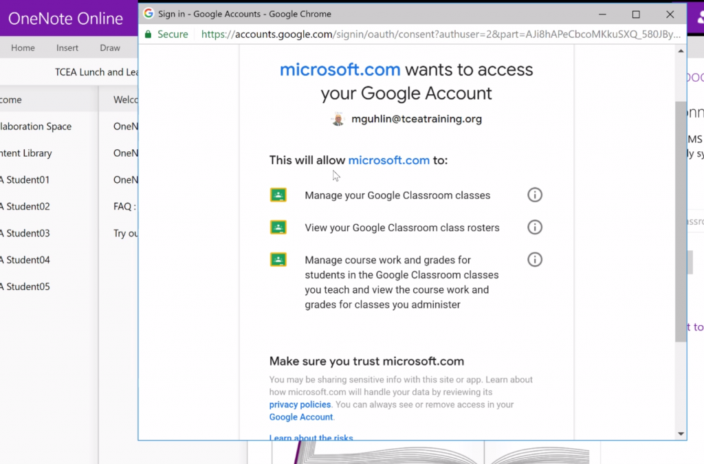 TCEA Responds: OneNote with Google Classroom? • TechNotes Blog