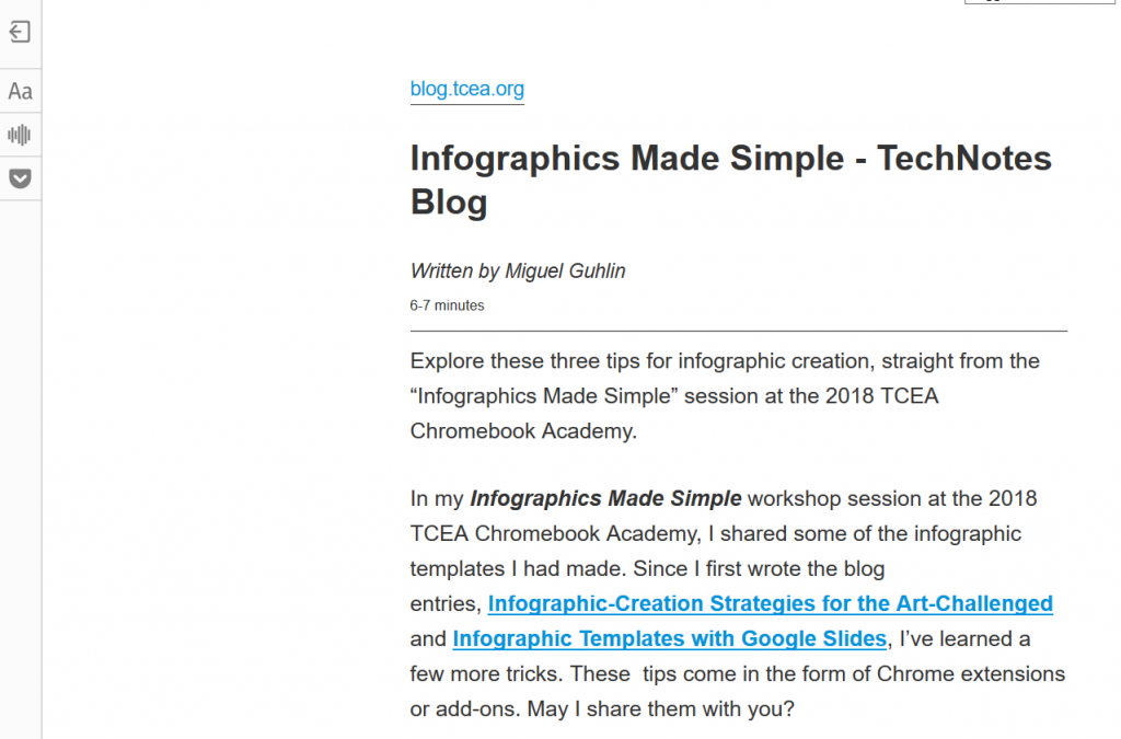 Reading Made Easy in the Chrome Browser • TechNotes Blog