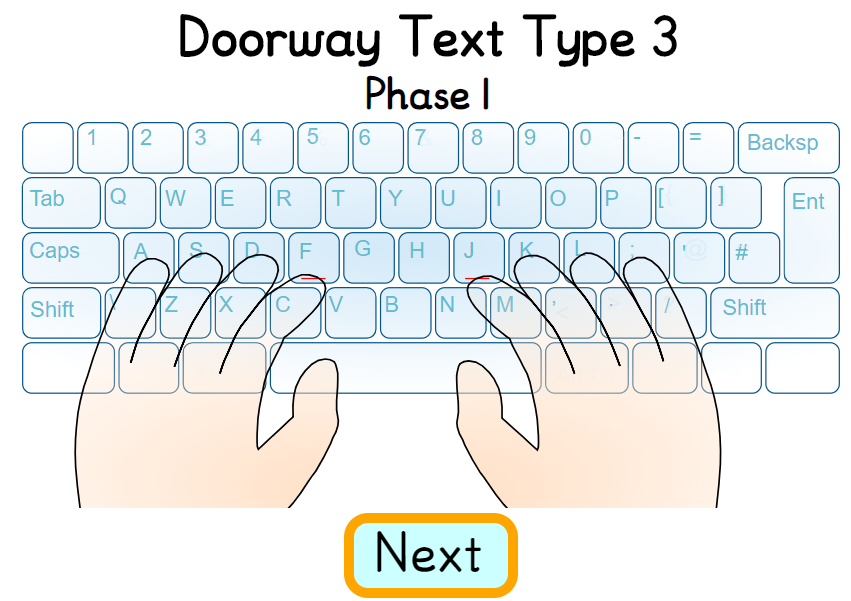 Doorway Text Type 3 keyboard