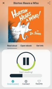 reading dr Seuss novel effect app