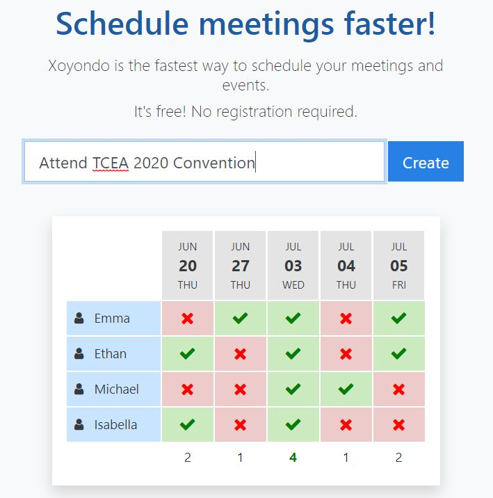 meeting scheduling